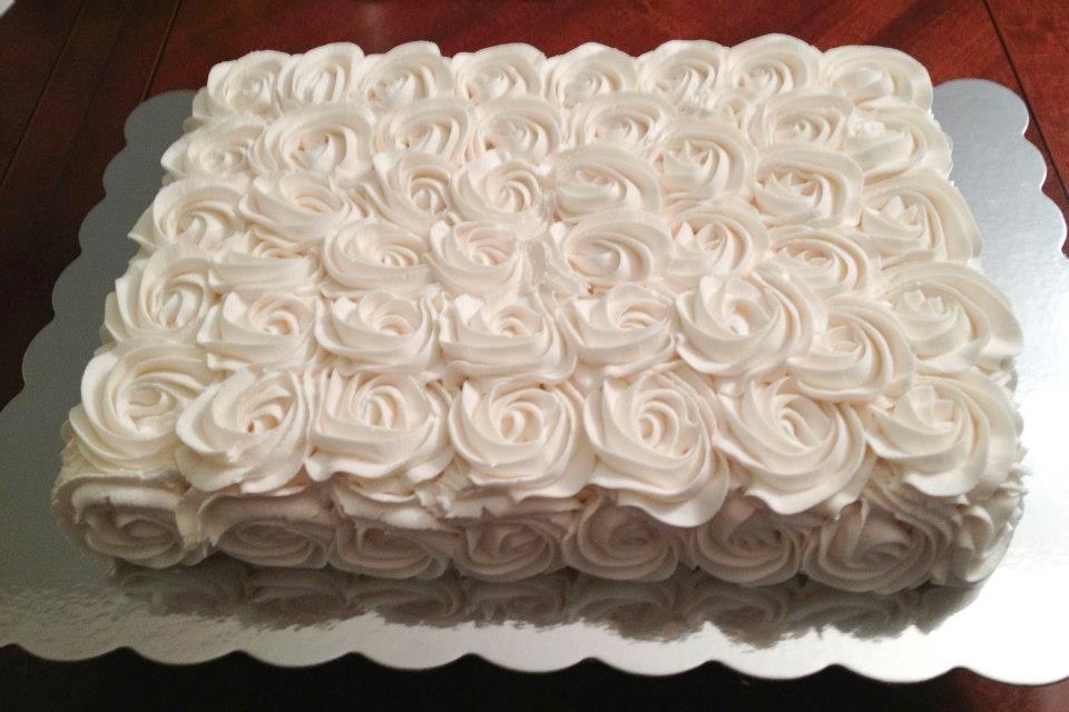 Cake Decorating How To Make Rosettes : Cake Decorating: Buttercream Rosette Sheet Cake cakes ...