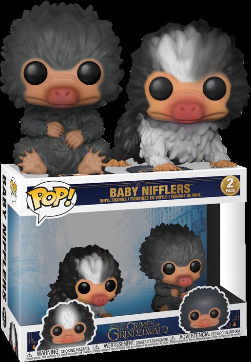 Fantastic Beasts 2 The Crimes Of Grindelwald Baby Nifflers Black And Grey Funko Pop Vinyl Figure 2 Pack Funko Pop Dolls Harry Potter Funko Pop Funko Pop