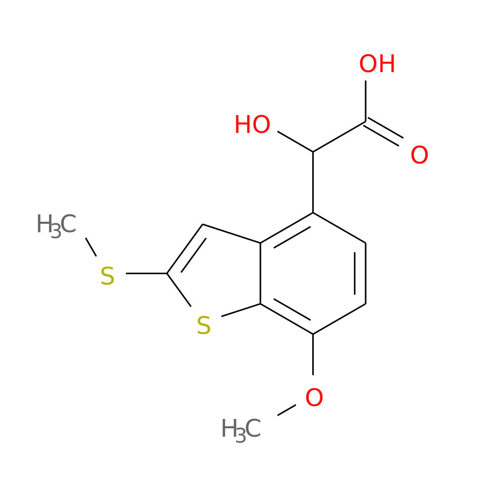 2 HYDROXY 7 METHOXY METHYLTHIOBENZOTHIOPHENE 4 YLACETIC ACID