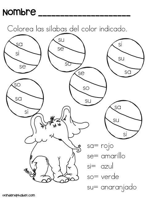 silabas con dr seuss lectoescritura teaching spanish bilingual classroom bilingual education. Black Bedroom Furniture Sets. Home Design Ideas