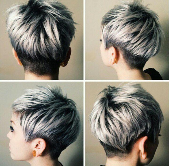 Short Grey Hairstyles Google Search Kapsels Pinterest Short