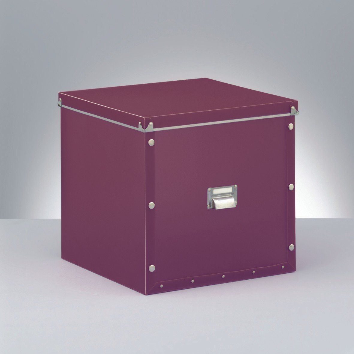 Zeller 17613 Storage Box Plastic 33 5 X 33 X 32 Purple Amazon Co Uk Kitchen Home Storage Storage Box Box