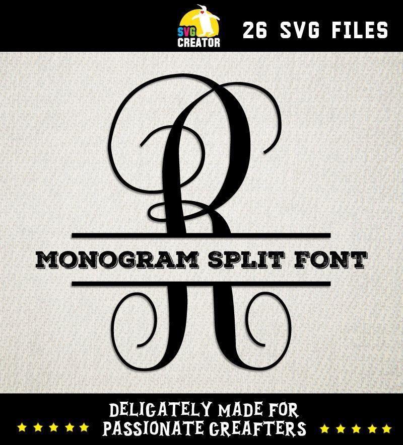 Image result for Cricut Split Monogram Fonts Free | cricket machine