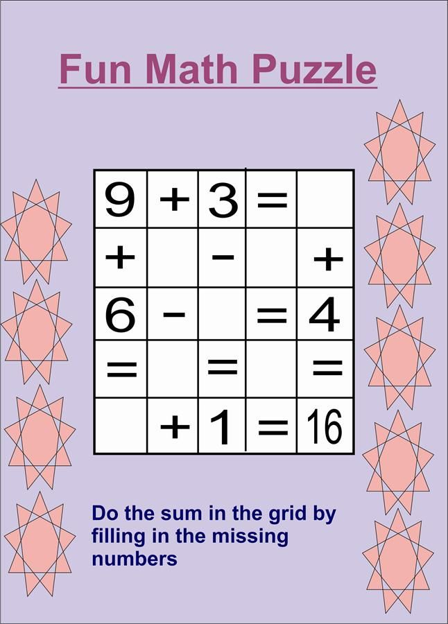 Math Puzzles Image Quotes Quotesgram Maths Puzzles Math For Kids Fun Math