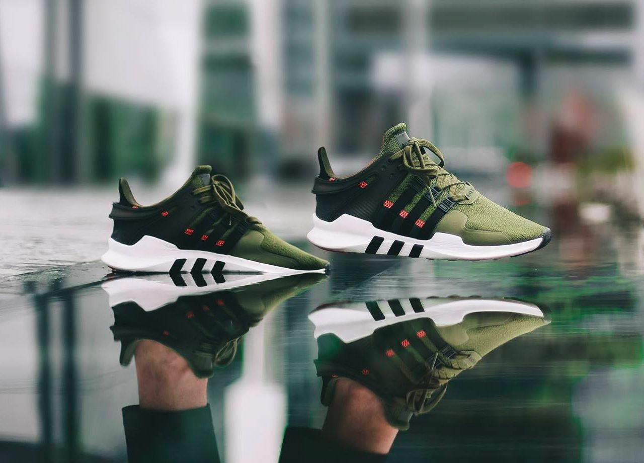 100% authentic aabc3 d6a54 Adidas EQT Support ADV - Cargo Green - 2017... – Sweetsoles – Sneakers,  kicks and trainers. On feet.