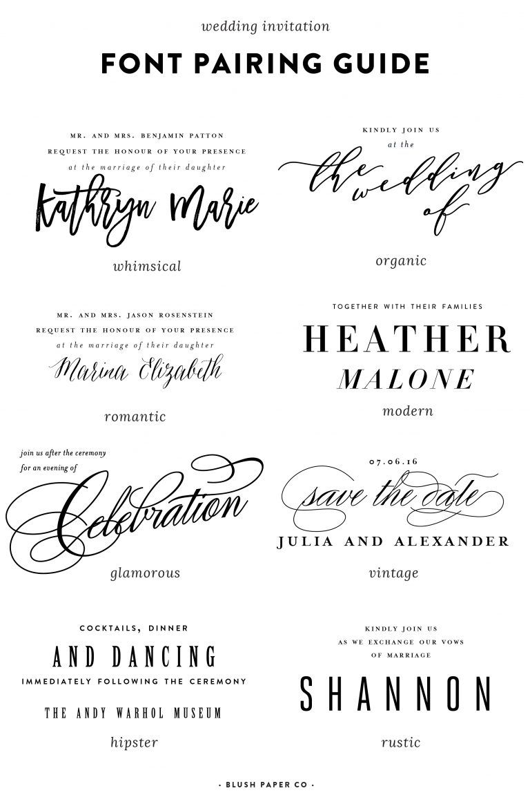 guide to using fonts on wedding invitations | Business - Fonts ...