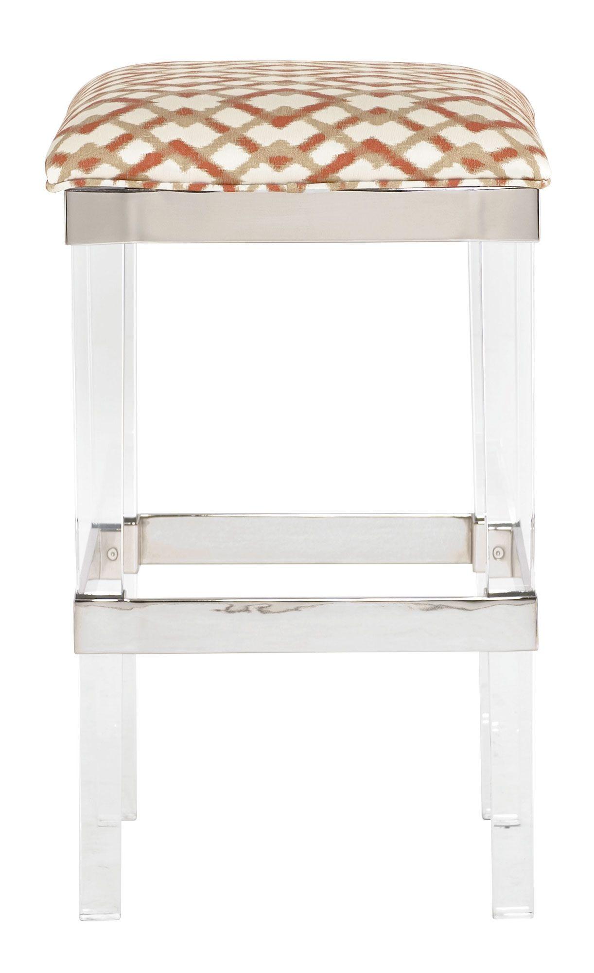 soho luxe bar stool bernhardt w 17 d 17 h 29 lucite