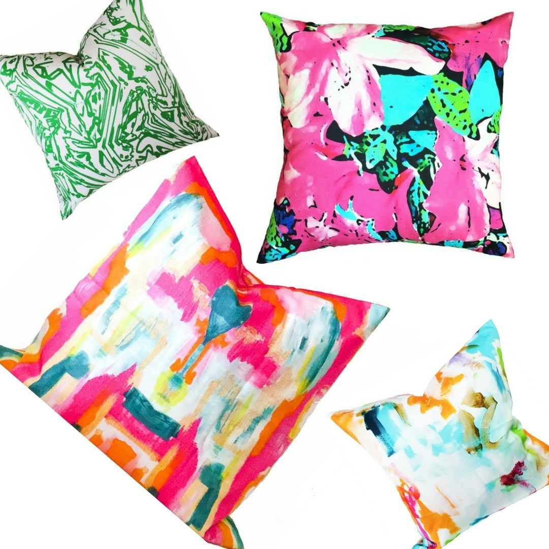 Designer pillows in vibrant colors the color boutique living with