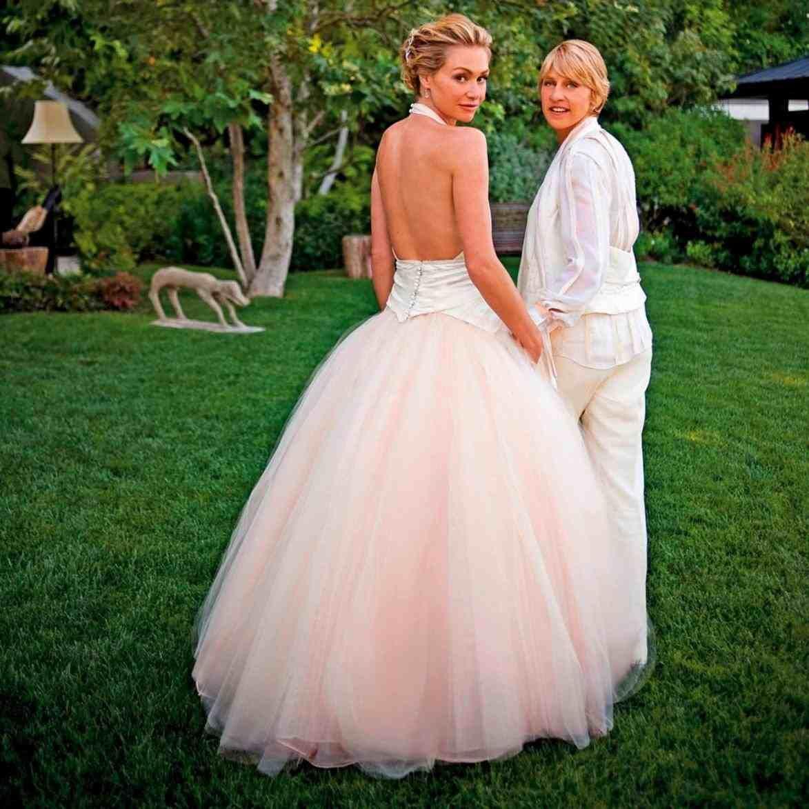 Singer Pink Wedding Dress