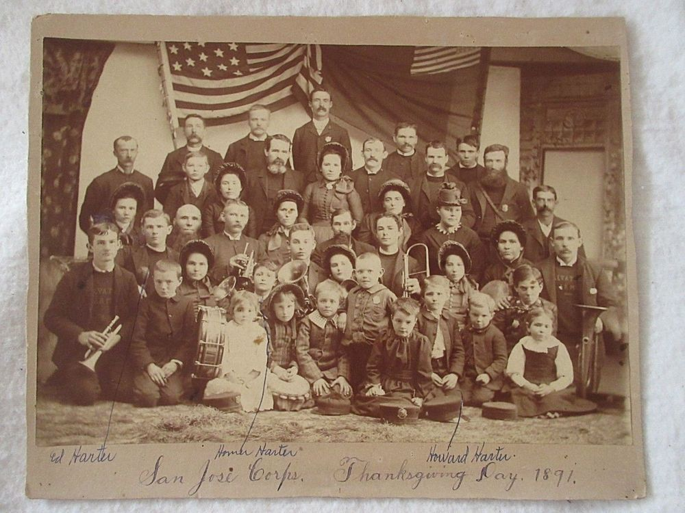Salvation Army San Jose >> 1891 Salvation Army San Jose Corps Thanksgiving Day Sepia