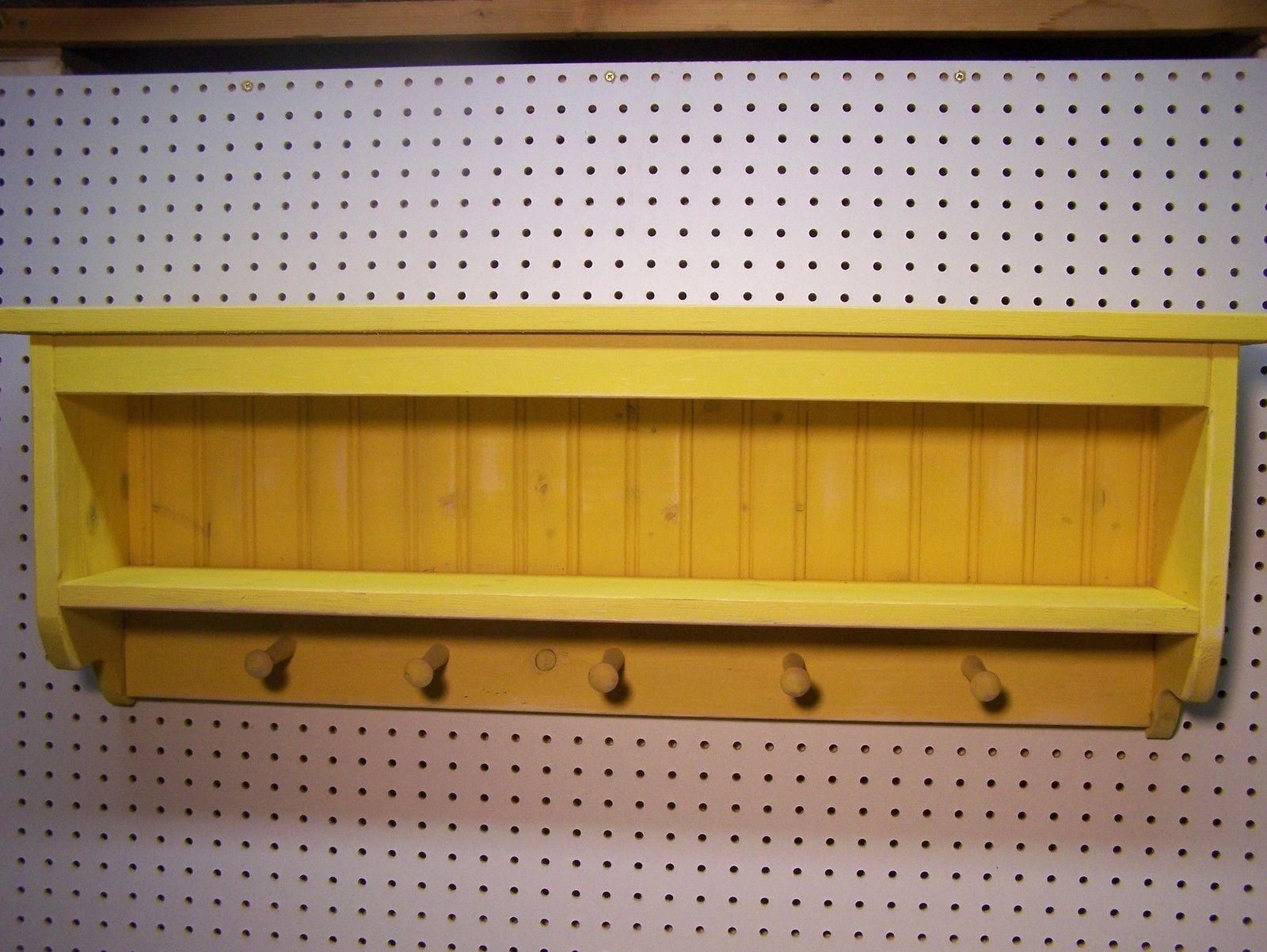 Handmade Primitive Wood Wall Shelf - Shadow Box - Plate Groove ...