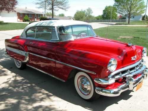 1954 Chevrolet 2 Door Sedan Chevy Bel Air Old American Cars