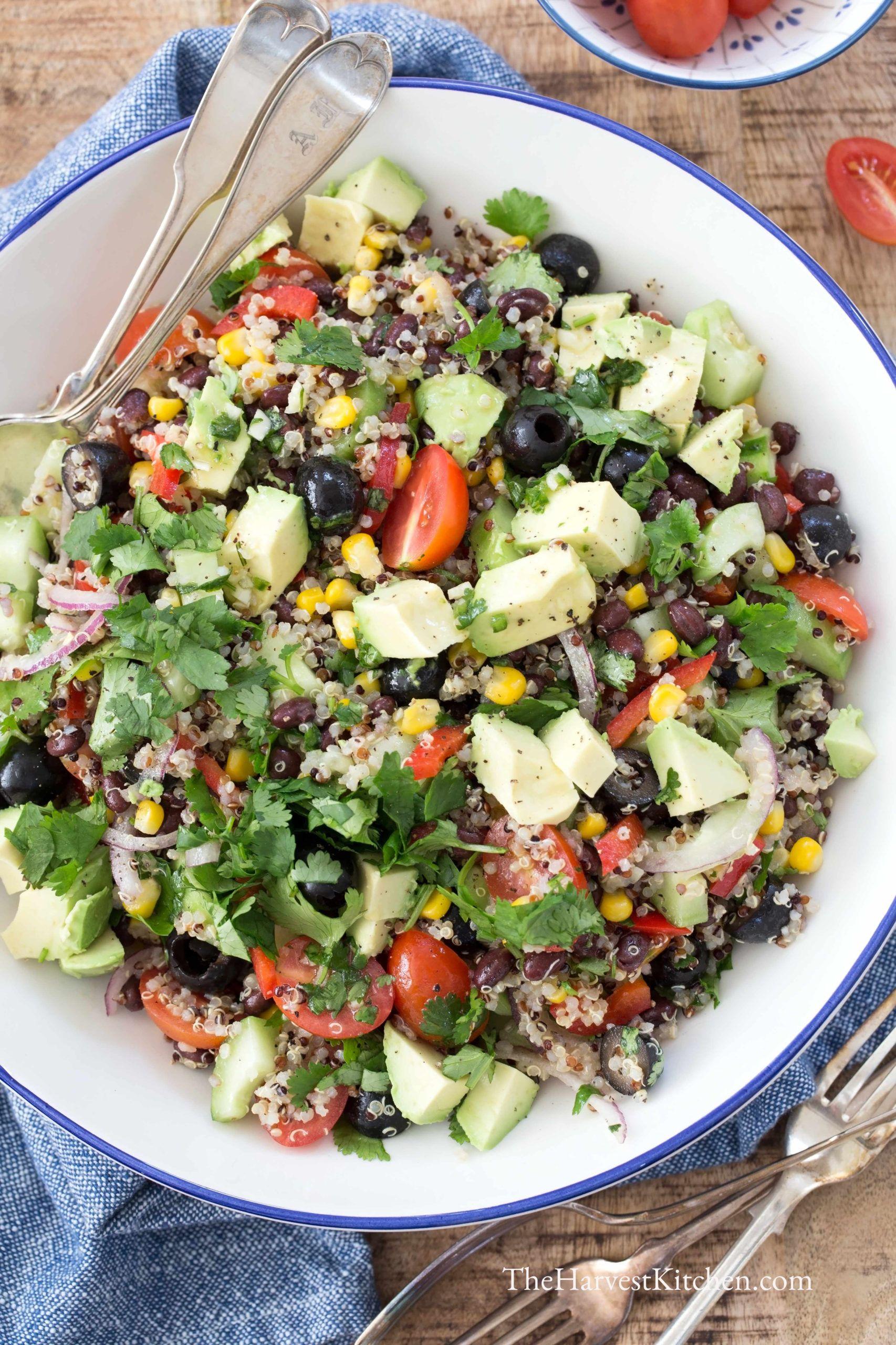 Quinoa Black Bean Salad Recipe In 2020 Best Quinoa Salad Recipes Bean Salad Black Bean Salad
