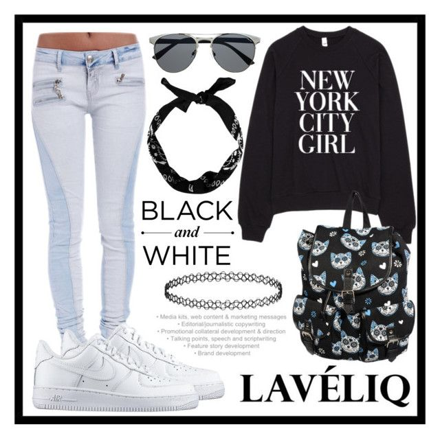 """Laveliq #6"" by amra-sarajlic ❤ liked on Polyvore featuring NIKE and Laveliq"