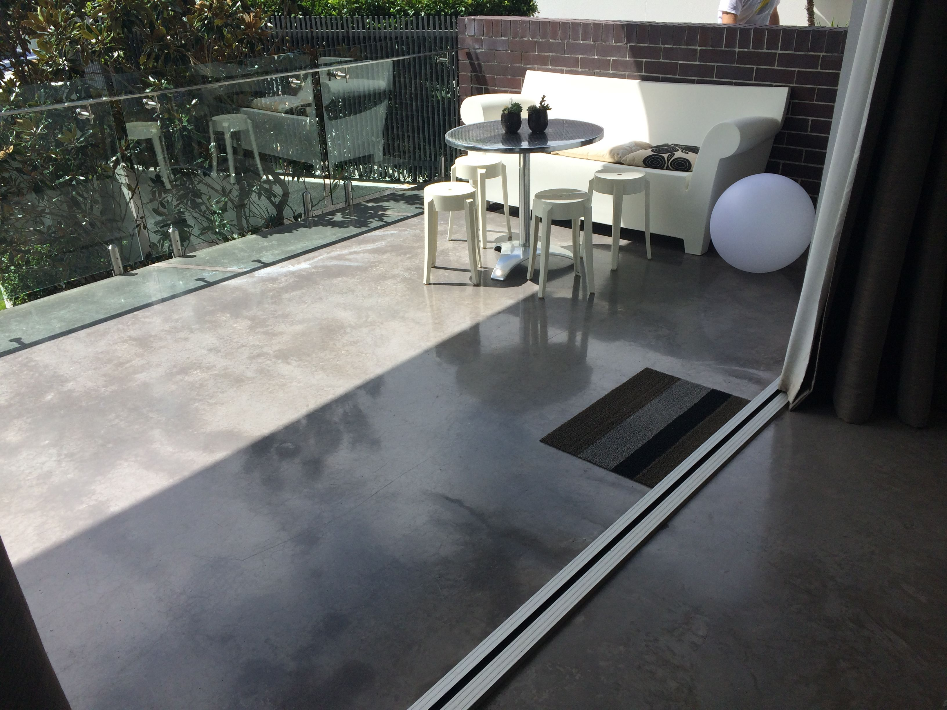 Polished Concrete Deck Flooring