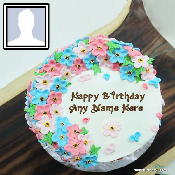 Free Birthday Cake With Name And Photo Editor Online