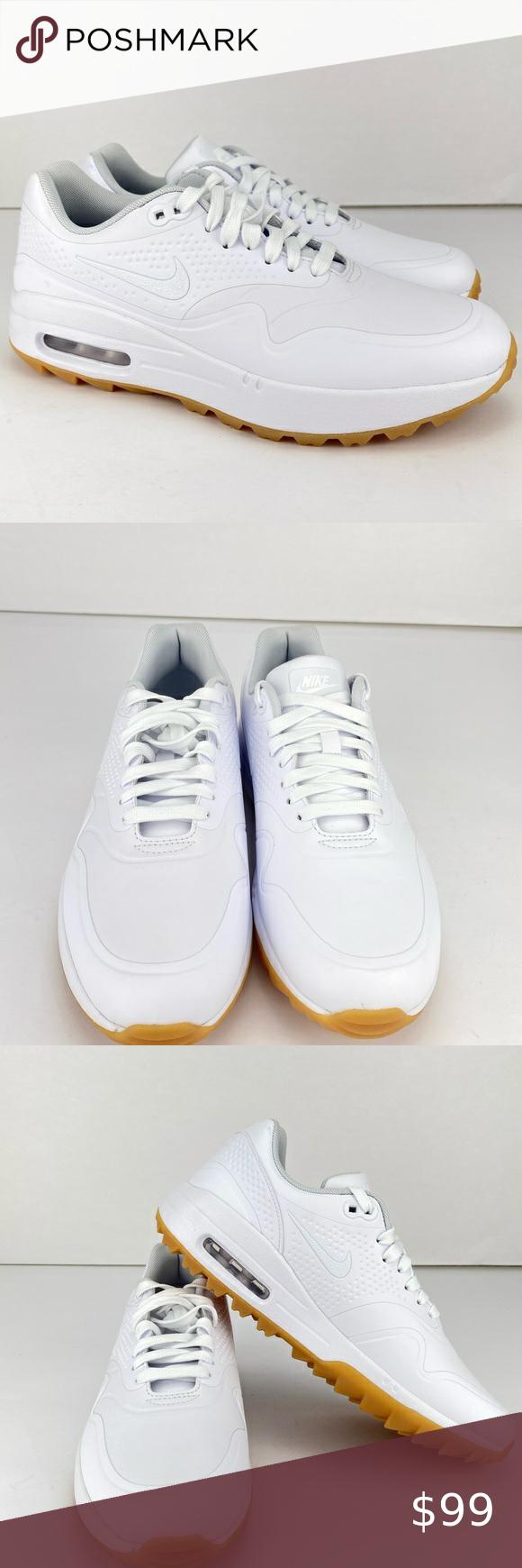 Nike Air Max 1 Women S Golf Shoes Size 8 5 Nike Air Max 1 Women S Golf Shoes Spikeless White Gum Aq0865 100 Size 8 5 In 2020 Womens Golf Shoes Nike Air Max Golf Shoes