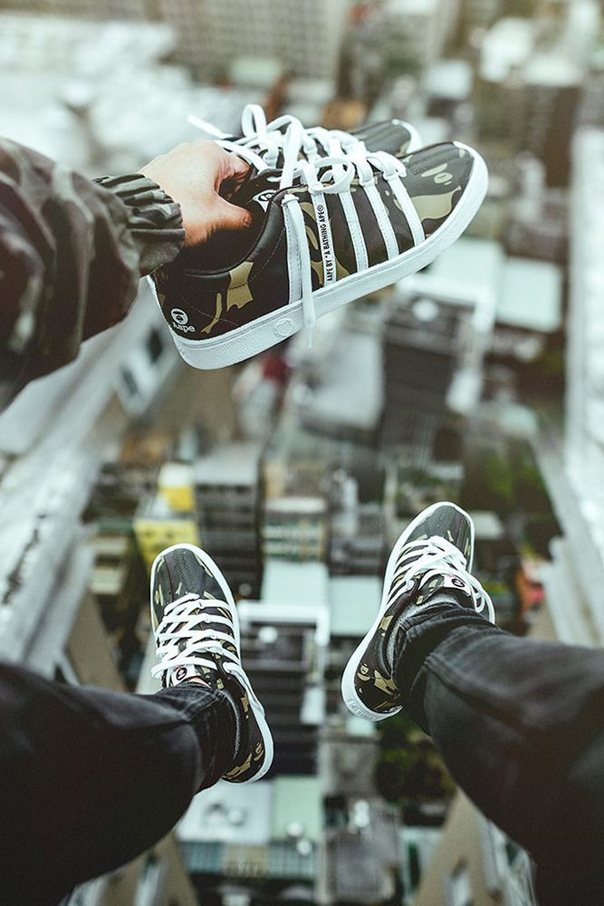 premium selection 545d3 251fd K-SWISS has teamed up with A Bathing Ape imprint AAPE for a collaborative  sneaker.