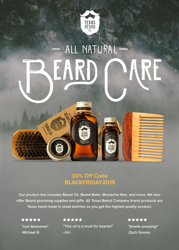 Gifts For Men Texas Beard Company All Natural Non Toxic Grooming
