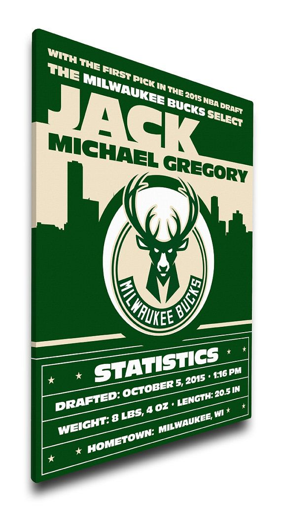 Milwaukee bucks personalized baby gift canvas birth announcement dallas stars personalized birth announcement on canvas baby gift nursery art negle Gallery