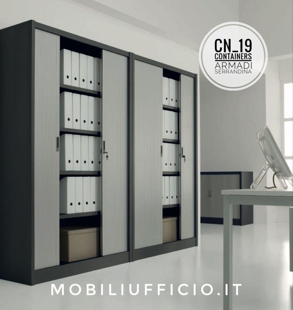 Armadio Metallico Per Ufficio.Cn 19 Armadioarchivio Containers Con Ante A Serrandina