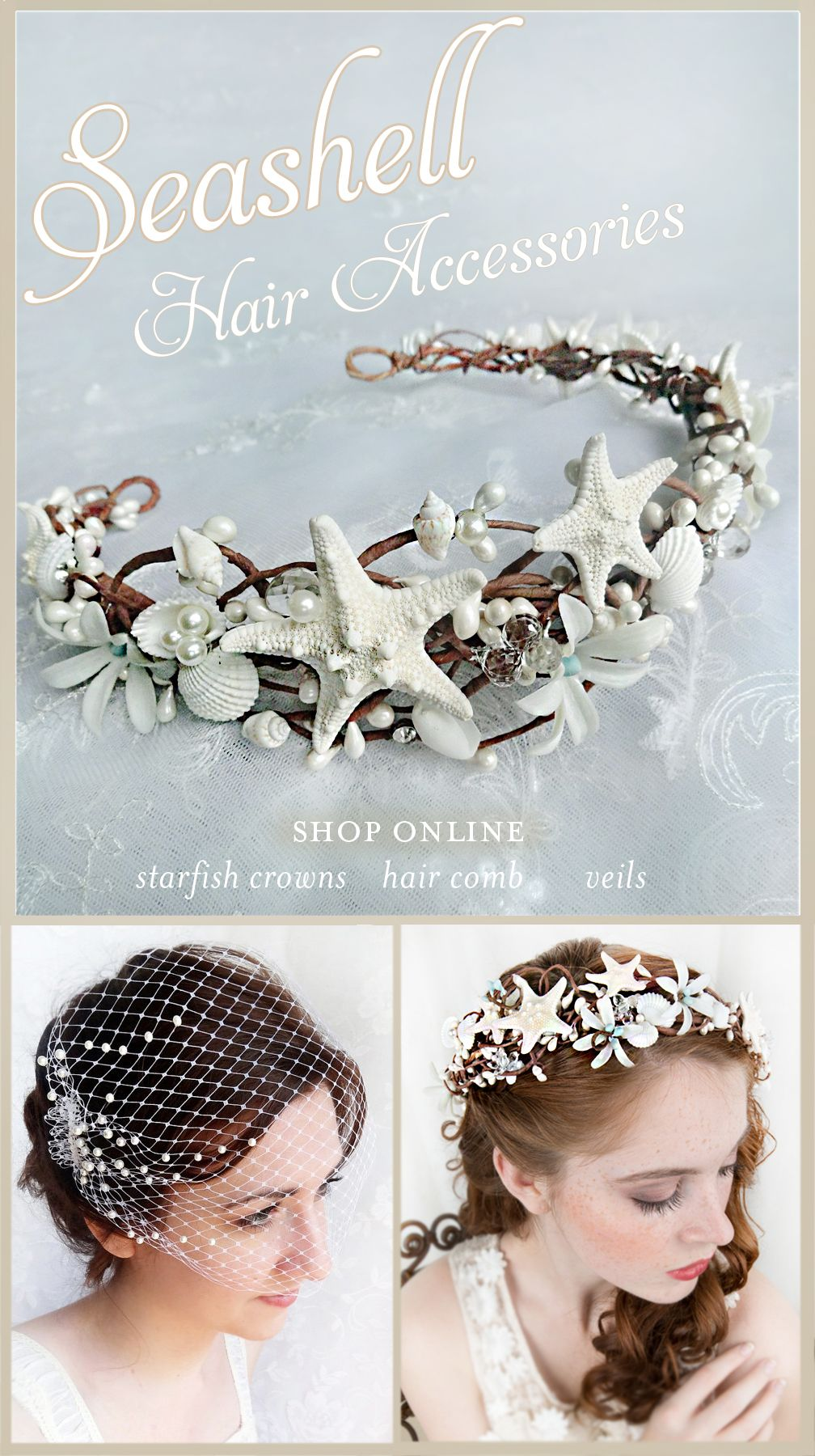 Shop online seashell hair accessories starfish crowns seashell shop online seashell hair accessories starfish crowns seashell hair pins ideal for izmirmasajfo