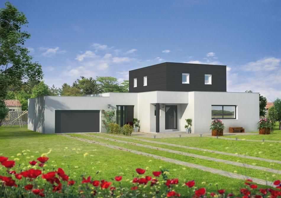 Modele photos maison contemporaine toit plat maison toit for Modele de villa contemporaine