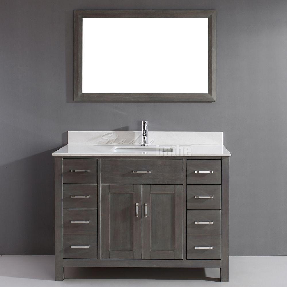 Art Kelia 48 Inch Bathroom Vanity French Gray Finish With Images