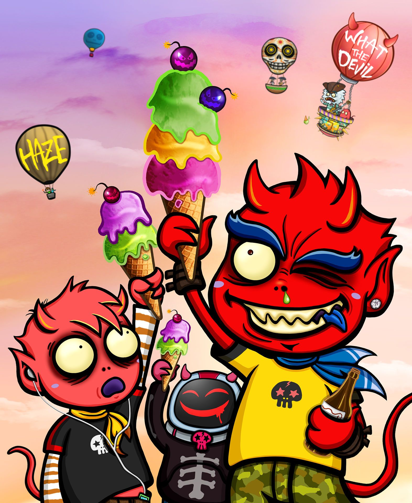 Urban Devil - Ice Cream Boom / Creator, Characters and Illustrations by PEPPERJERRY