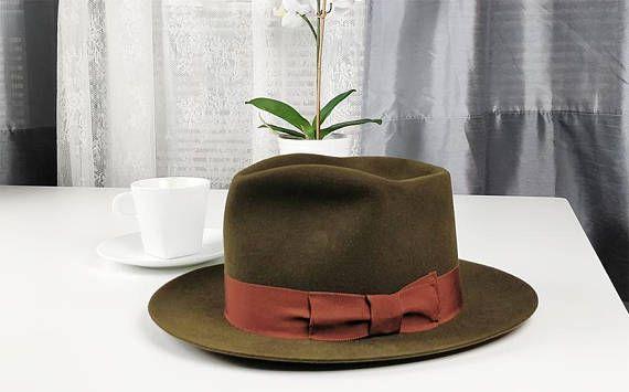 RAGNAR FEDORA by HUFVUD Custom made hat Custom Leather  31338f8f4ed