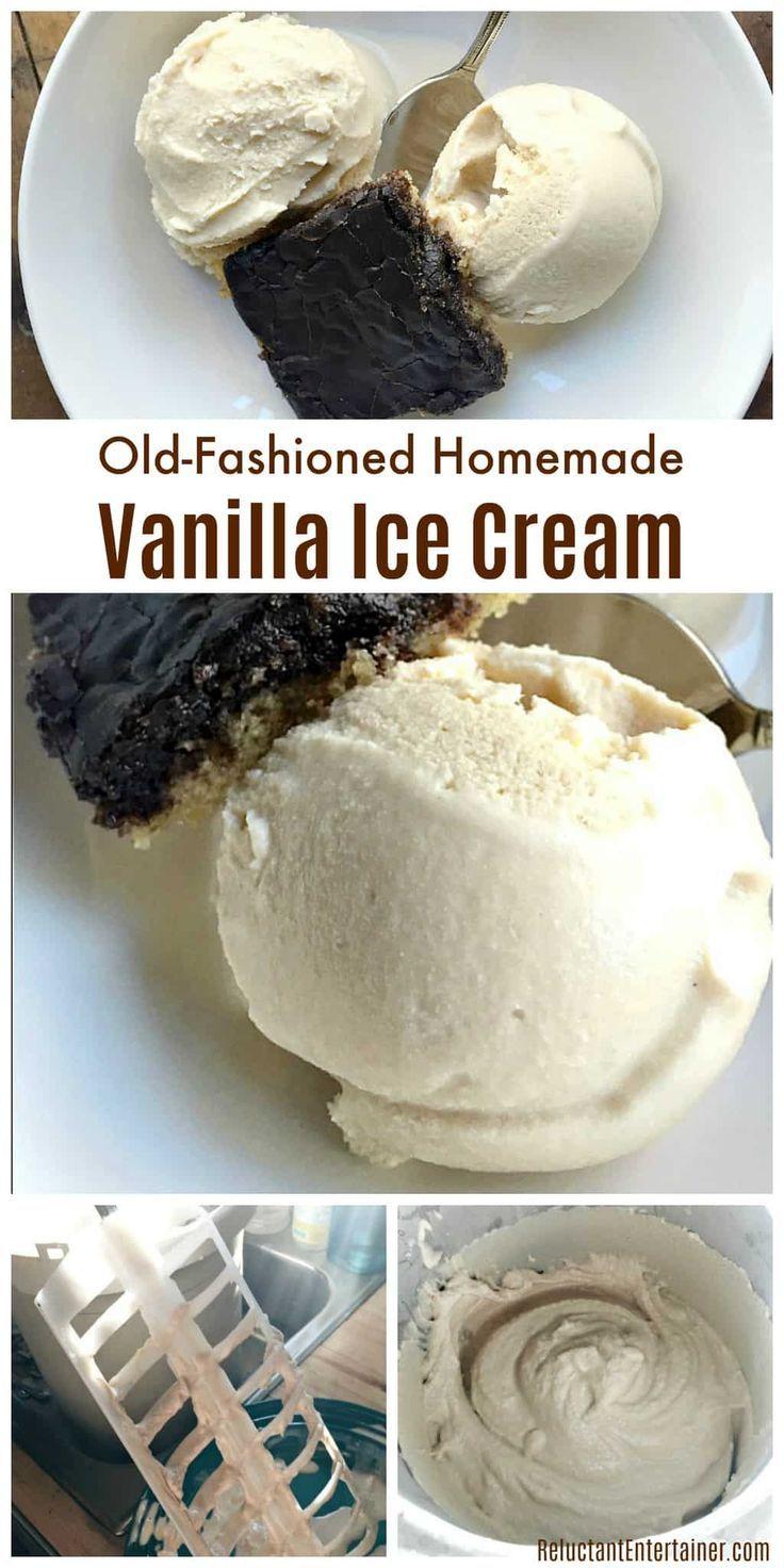 Old-Fashioned Homemade Vanilla Ice Cream