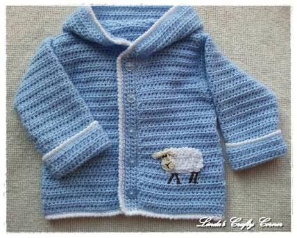 Resultado de imagen para crochet baby sweater pattern free easy ...