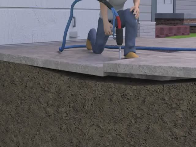 How To Lift Cracked Uneven Concrete Driveways With Foam Video