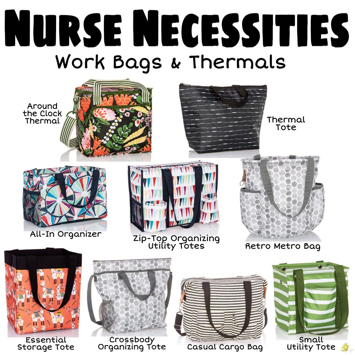Nurse Necessities Work Bags Thermals March