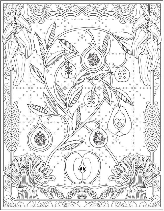 Creative Haven Farmers Market Designs Coloring Book