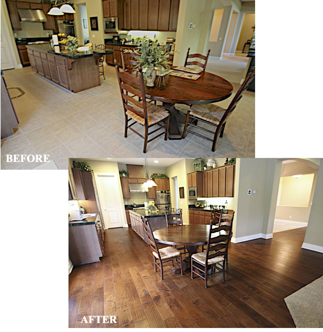 People Cleaning Kitchen: West Coast Flooring Can Completely Change Your Kitchen