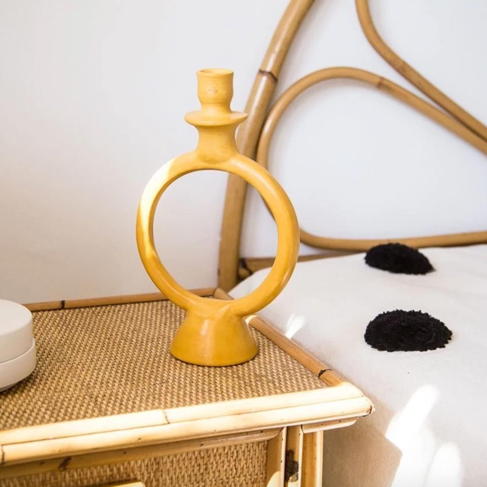 CHABI CHIC Tadelakt Ring Candle Holder (Yellow) MARR