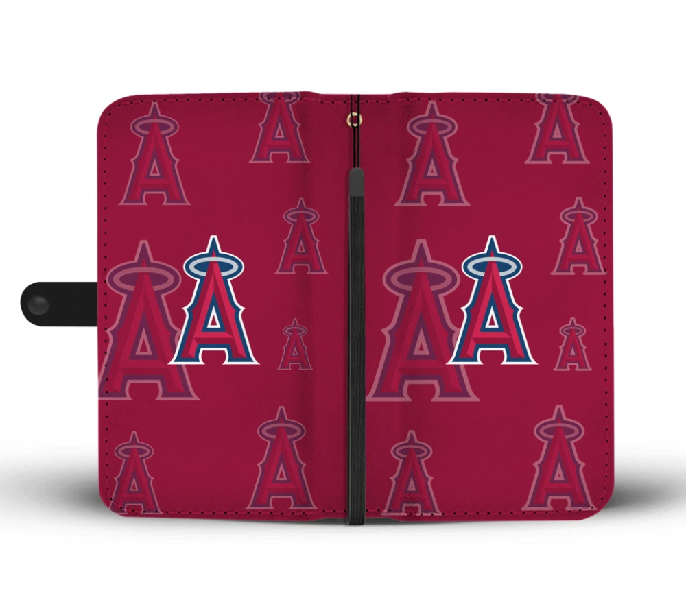 Los Angeles Angels Logo Background Wallet Phone Cases