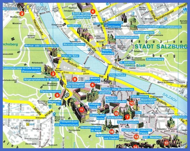 SALZBURG MAP httptoursmapscomsalzburgmaphtml Tours Maps