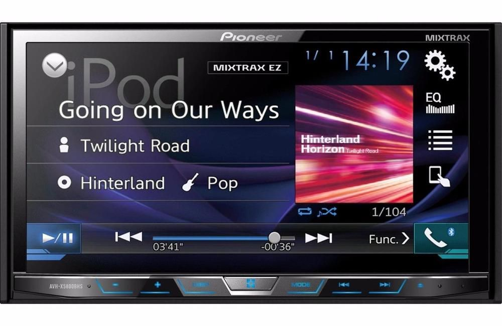 Pioneer Avh X5800bhs 2 Din Bluetooth Dvd Receiver 7 Touchscreen Built In Hd Car Stereo Systems Touch Screen Car Stereo Car Stereo
