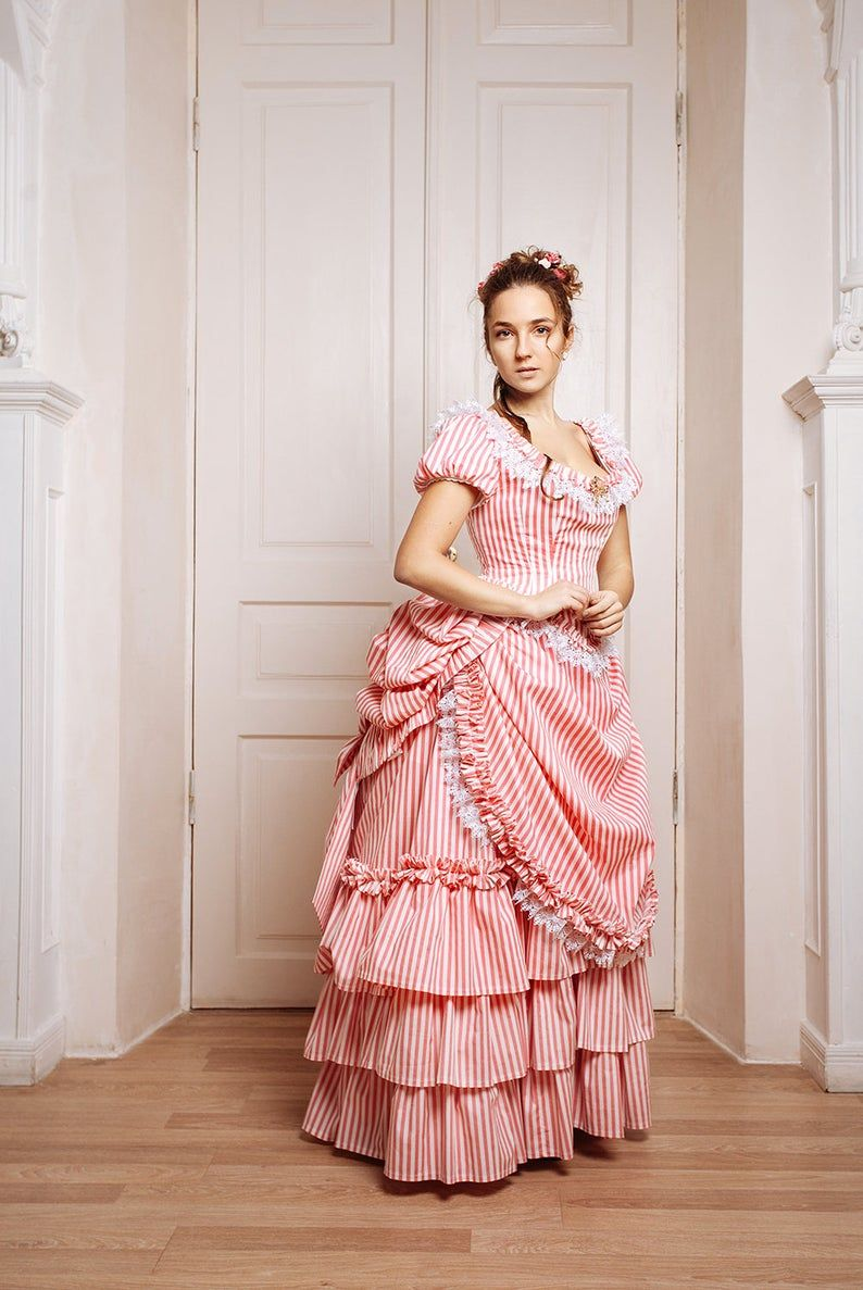 Victorian age bustle gown dress 19th century Europe Etsy