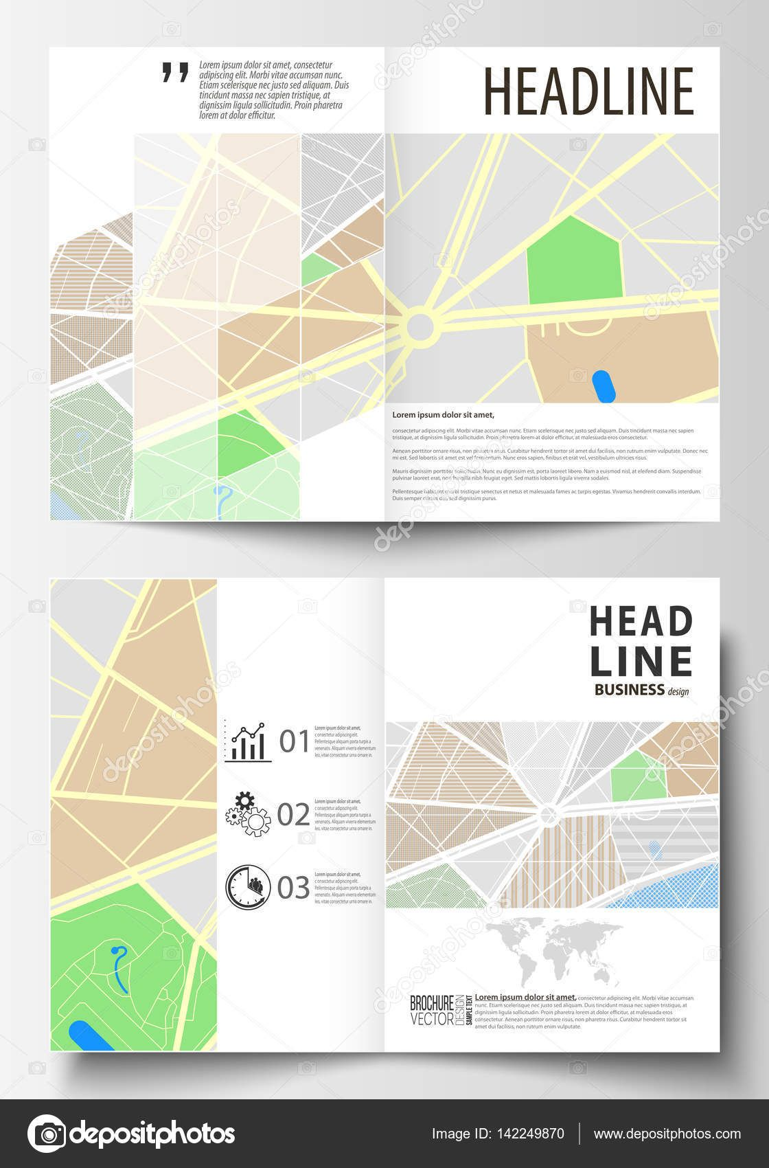 The Breathtaking Business Templates For Bi Fold Brochure Magazine Flyer Or In Blank City Map Template