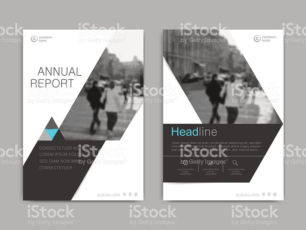 Cover Design Annual ReportVector Template Brochures Flyers