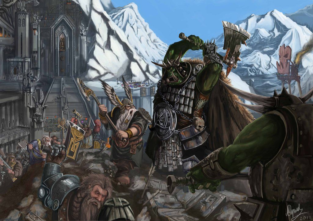 Attack On Karak Azul By Tygodym Deviantart Com On Deviantart Fantasy Battle Fantasy Dwarf Warhammer