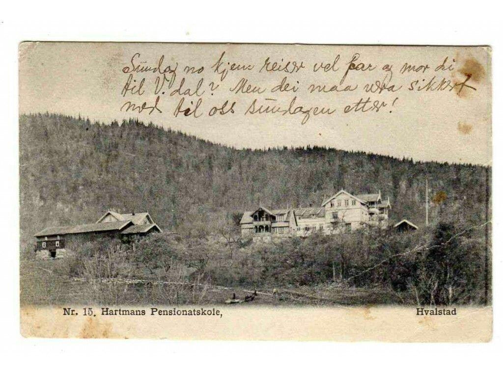 Hartmans pensionatsskole Hvalstad i Asker kommune i Akershus fylke utg Kjelland nr 15 ca 1910