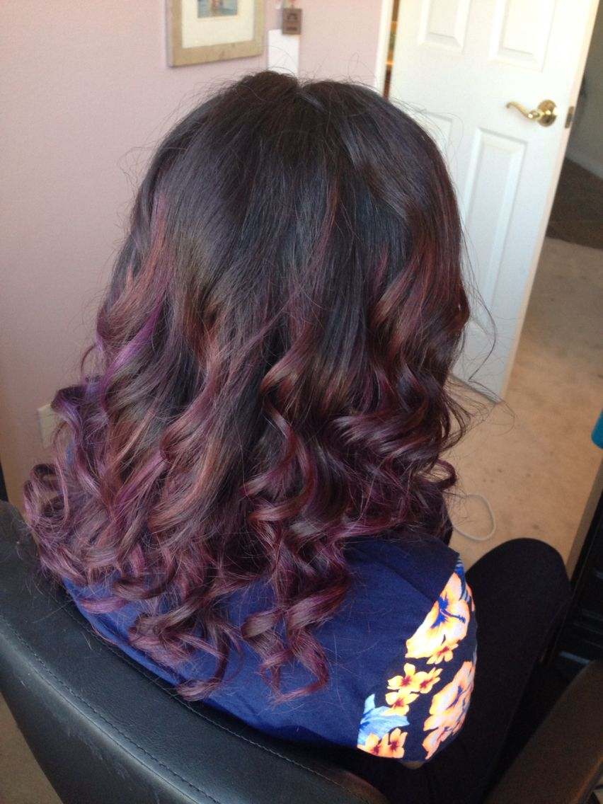 Violet ombré emmazinghair Long hair styles, Hair styles