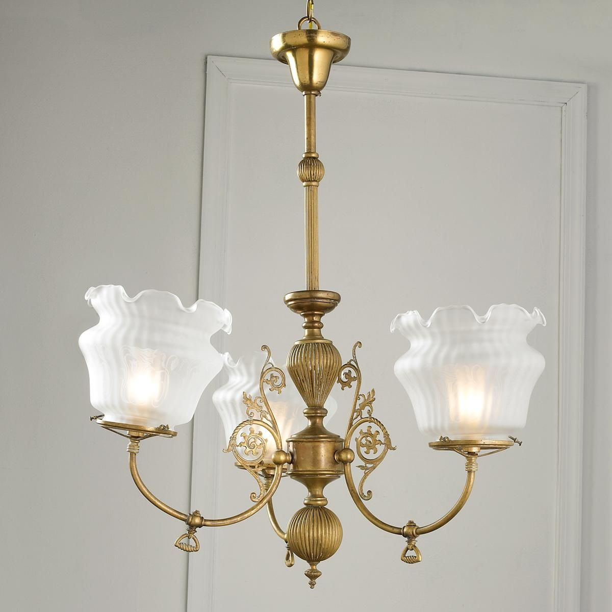 Converted Antique Gas Chandelier