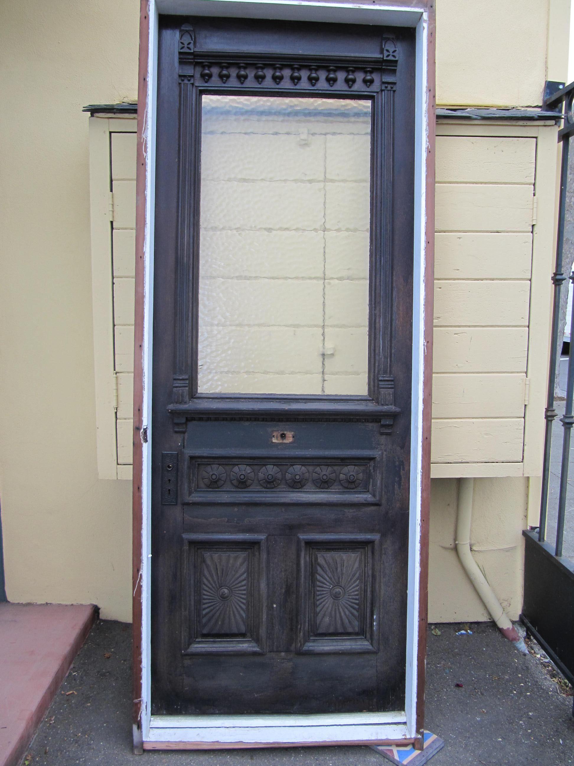 Eastlake victorian entry door san for Victorian front doors