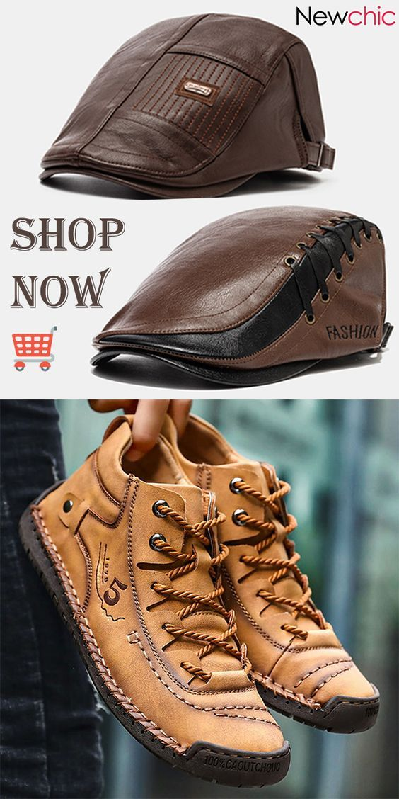 Fashion Leather Hats and Casual Shoes