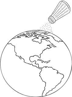 Salt Of The Earth Coloring Page Earth Drawings Coloring Pages